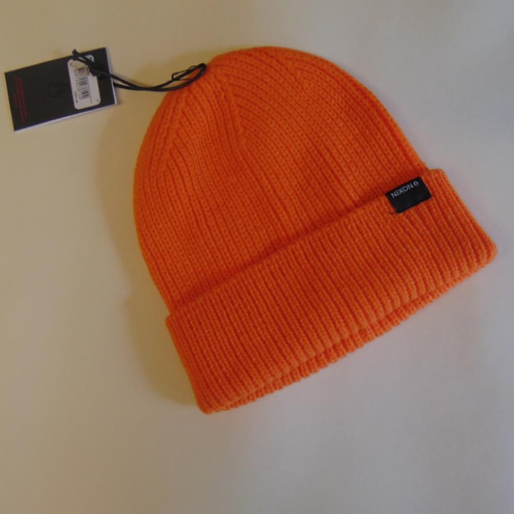 c563b95f4c8f1 Nixon Regain Beanie Orange