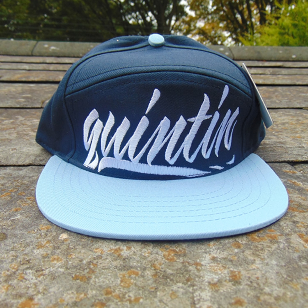 Quintin Co Large Hit Snapback Navy
