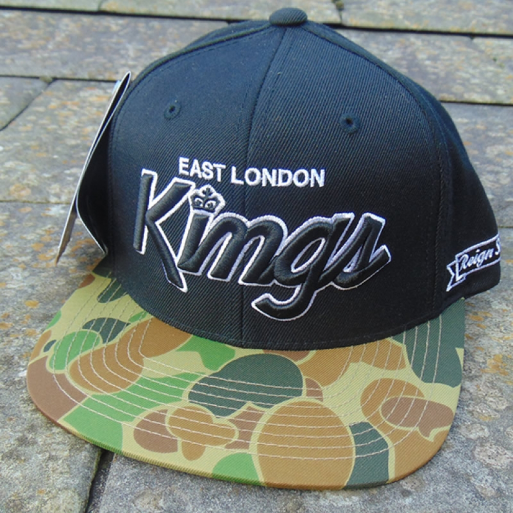 King Apparel ELK Black/camo snapback