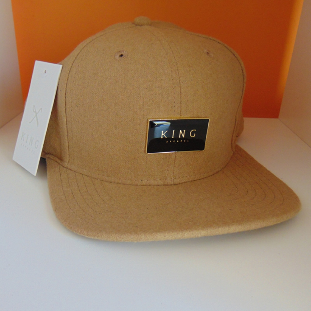 King Apparel Gold Seal 6 Panel Snapback - Camel 79d1d800651