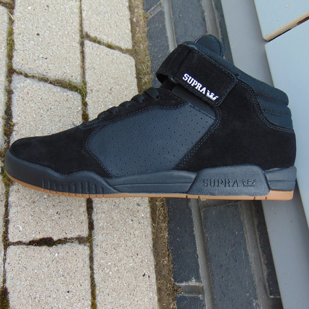 d1545ae63c93 Supra Ellington Strap Black-Gum mens trainers