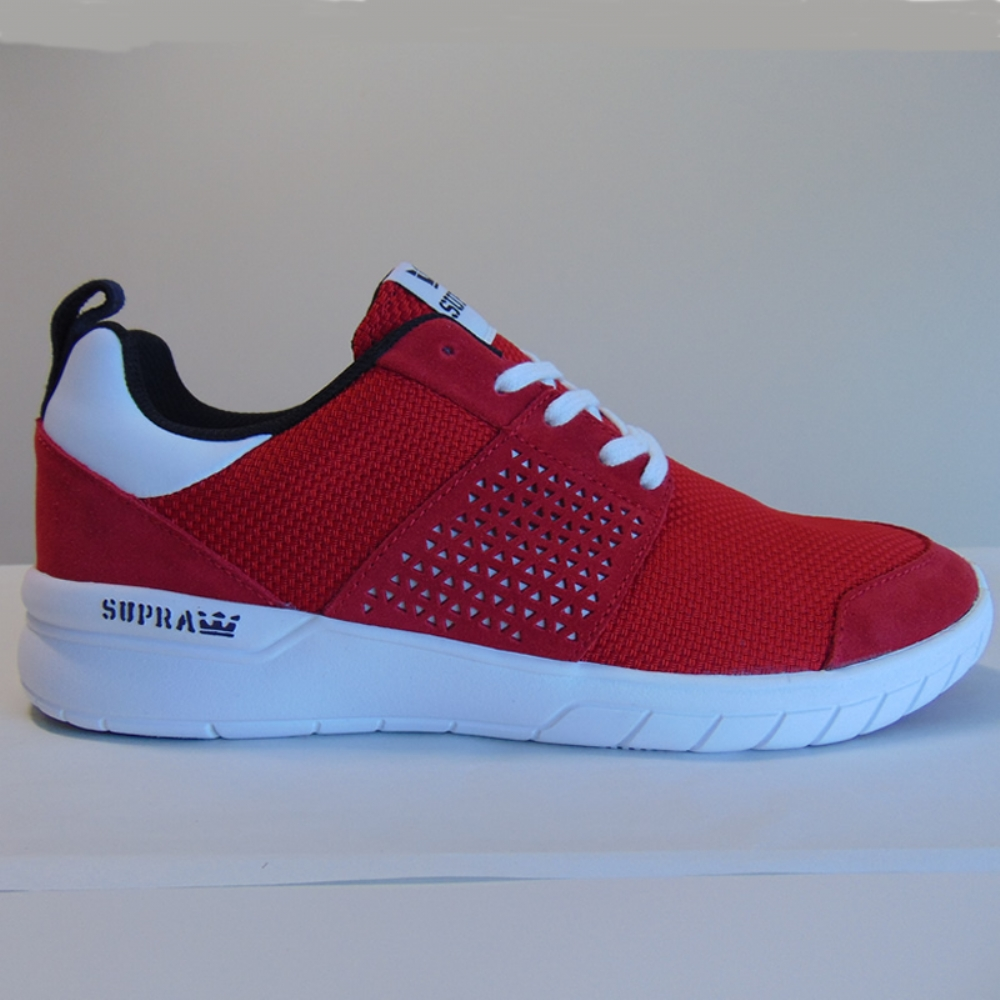 Supra Scissor Red/Black-White mens trainers