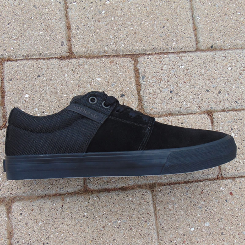 Supra Stack Vulc II Black/Black mens trainers