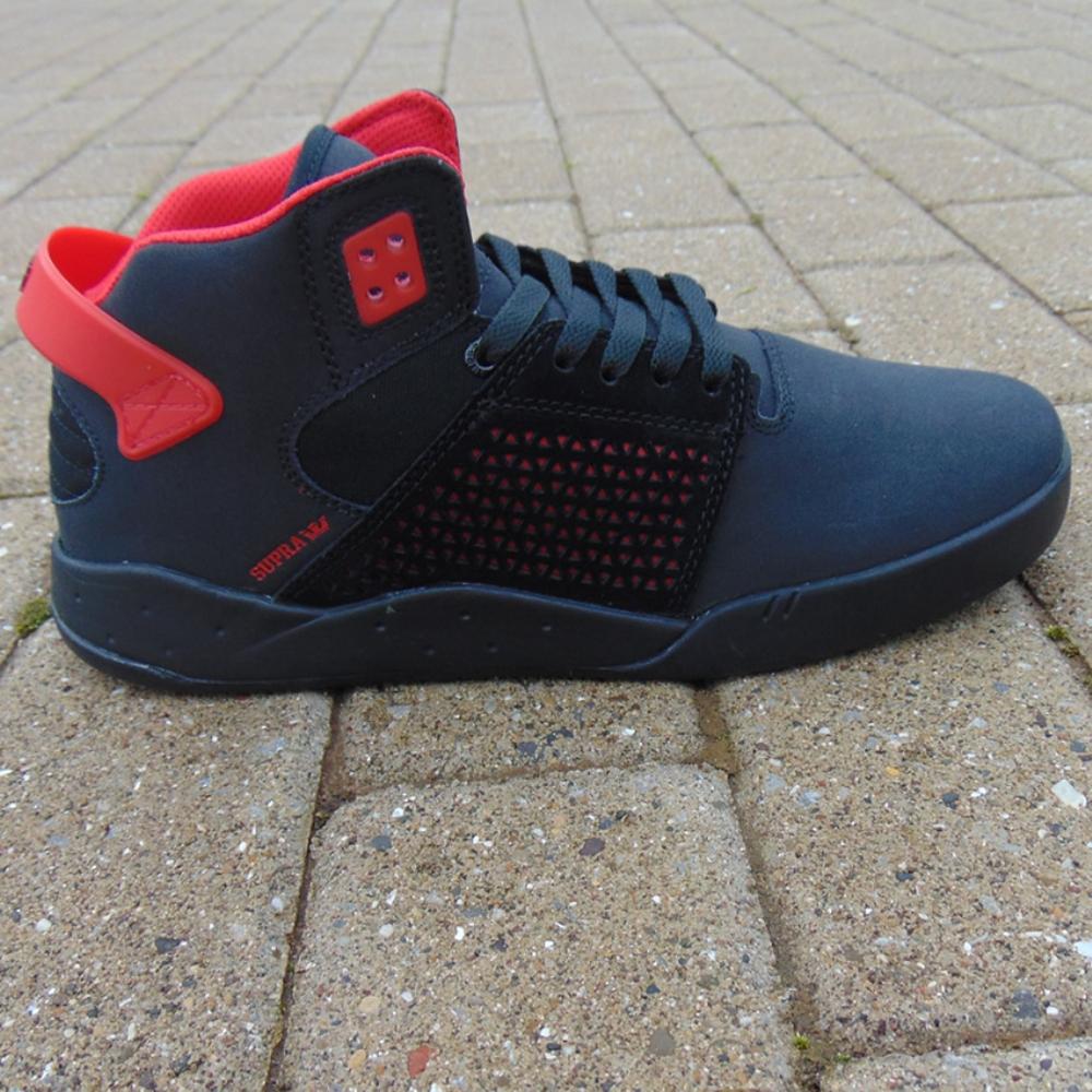 8e0806b4104c Supra Skytop III Black Red-Black mens trainers