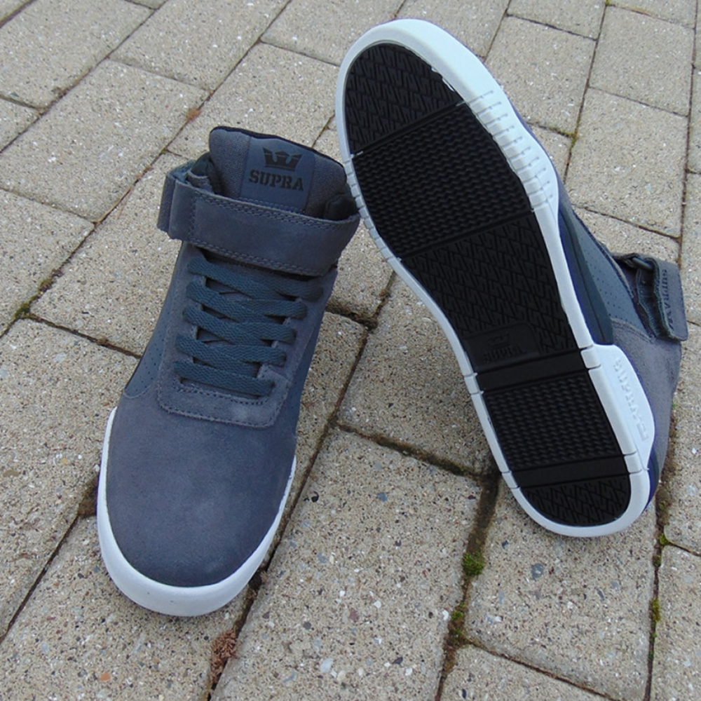 21d073f94fce Supra Ellington Strap Dark Grey Black-white mens trainers