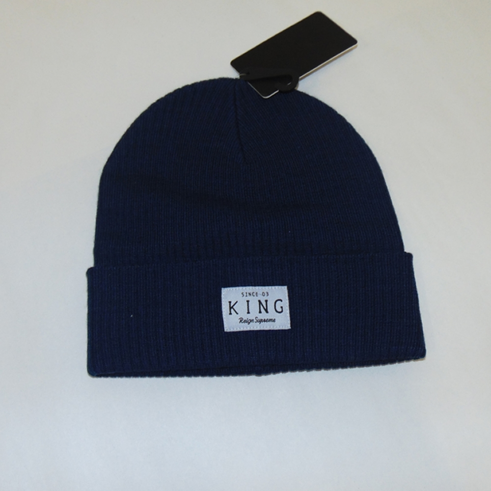 King Apparel Krest Navy Beanie Hat