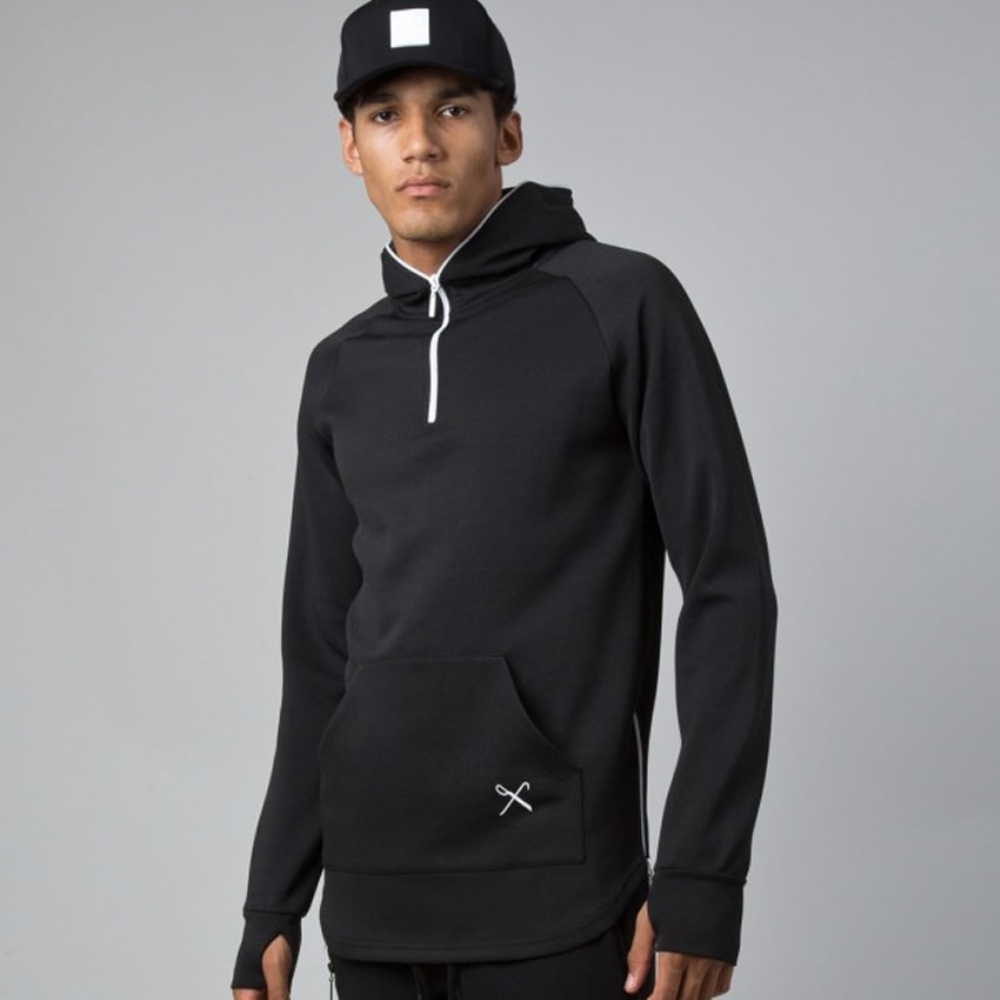 King Apparel Lab Hoodie Black Midline