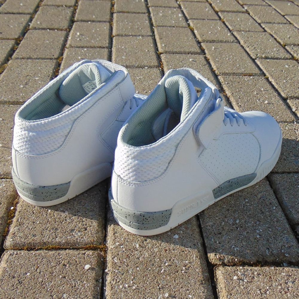 85c342e39e90 Supra Ellington Strap White Mid top trainers