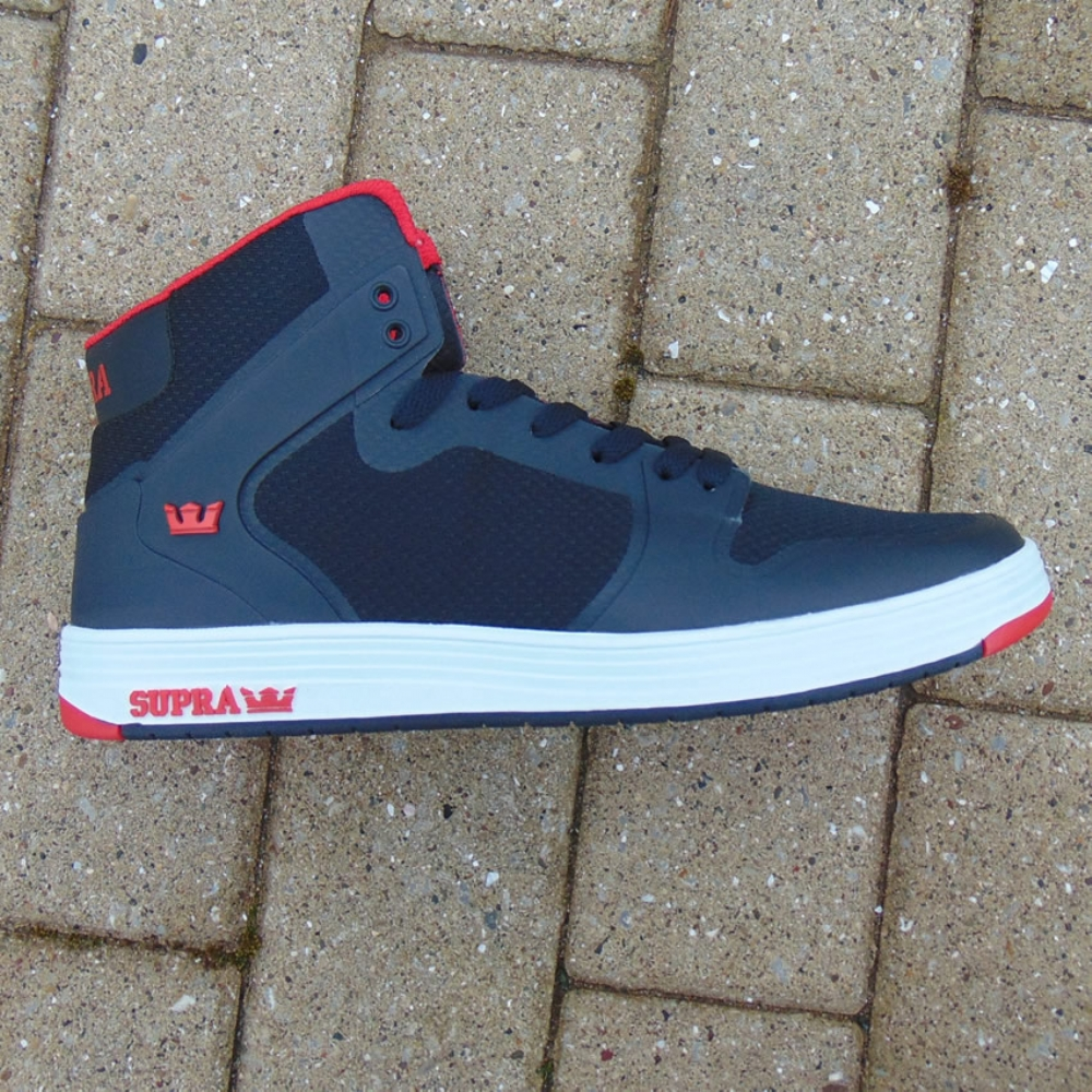 Supra Vaider 2.0 Black/Red Hi Top