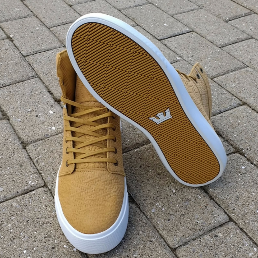 Supra Camino Amber Gold Hi Top Trainers
