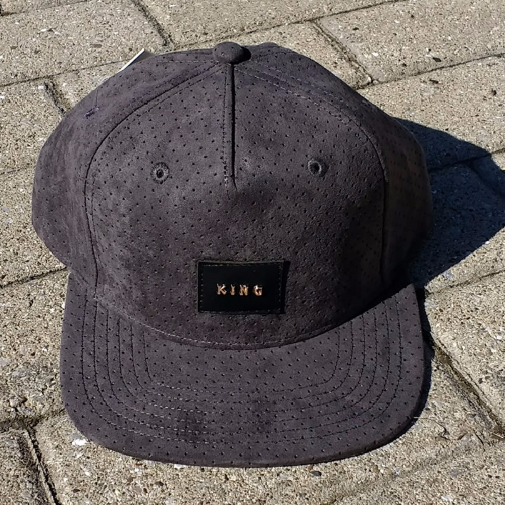 King Apparel Aesthetic Snapback Pinch Panel Charcoal Suede