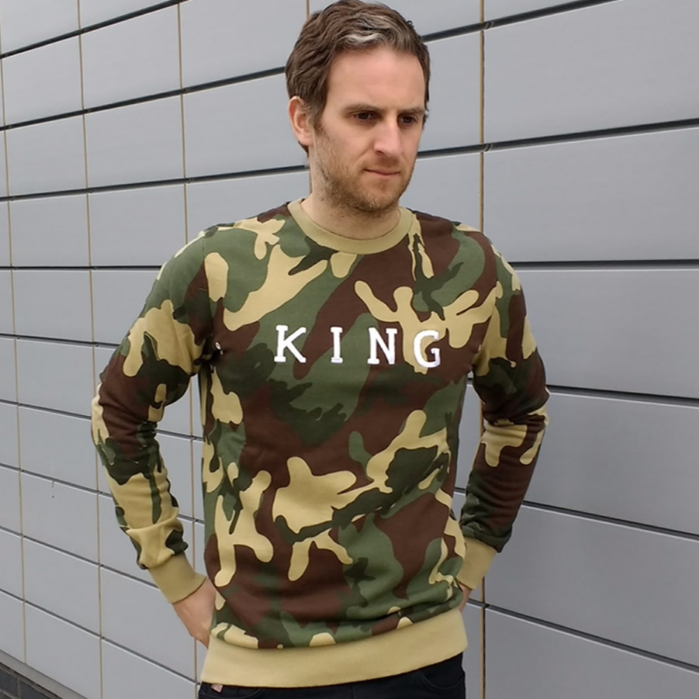 King Apparel Staple Crewsweat Camo