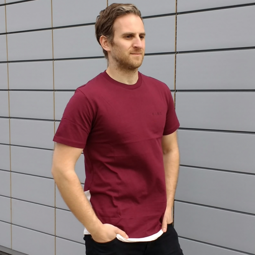 King Apparel Stamp Vent Tee Shirt Burgundy