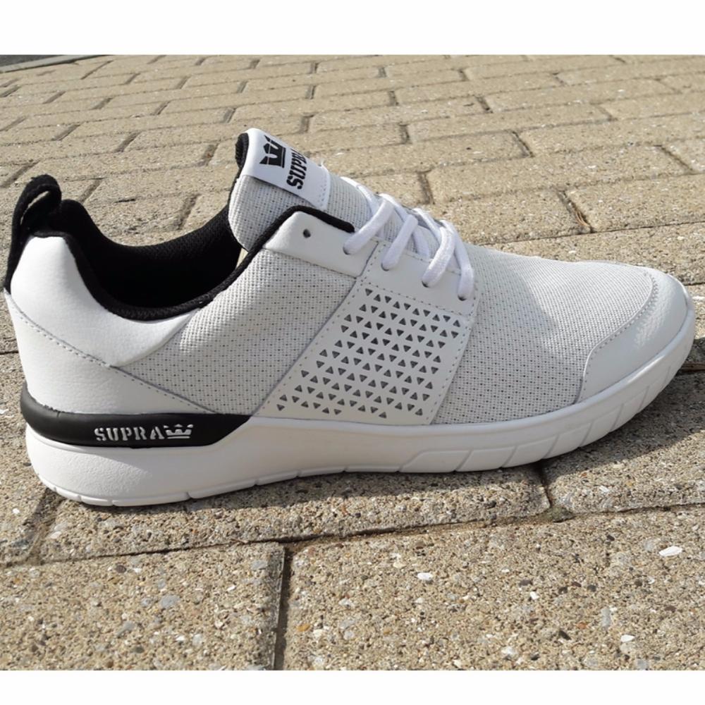 2307256e1bd2 Supra Scissor White Black-Aqua mens trainers