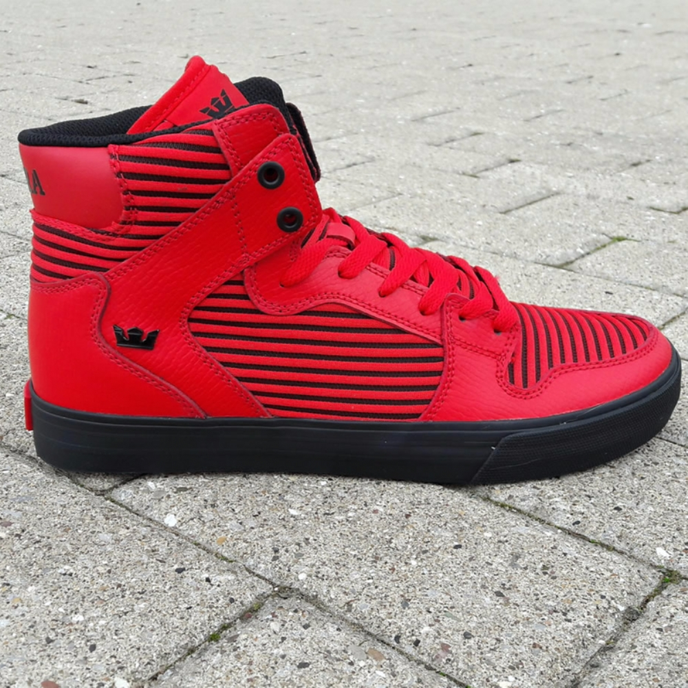 Supra Vaider Red-Black Mens Trainers