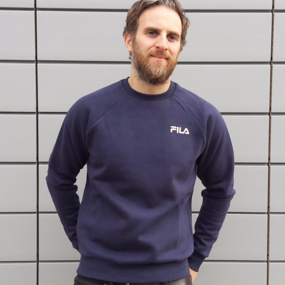 9f1ec9f0c3a5 FILA Black Line Ethan Crew Sweatshirt Peacoat