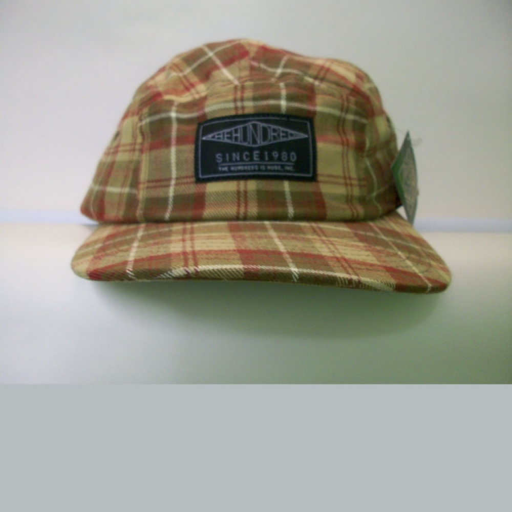 The Hundreds Bluff 5 Panel Khaki Strapback Hat
