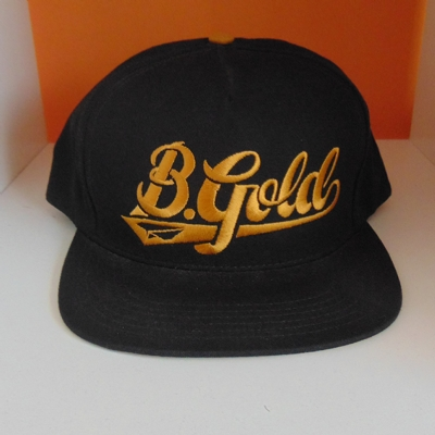 Benny Gold Snapback 6 Panel Black