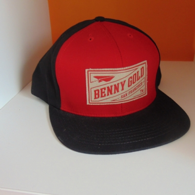 Benny Gold Snapback Black and Red