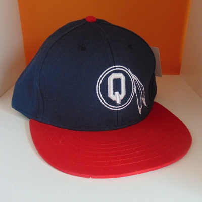 Quintin Snapback 6 panel navy and red