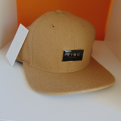 King Apparel Gold Seal 6 Panel Snapback - Camel