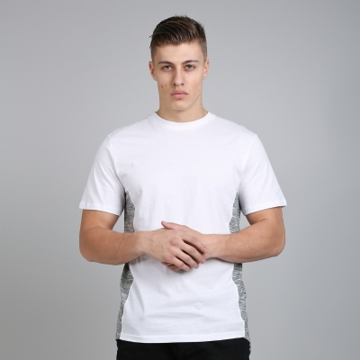 King Apparel Panel Tee Longline White