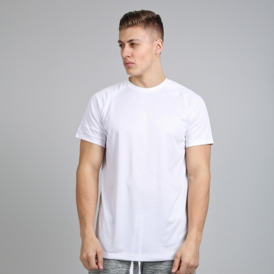 King Apparel Vent Zip Tee Shirt Longline White