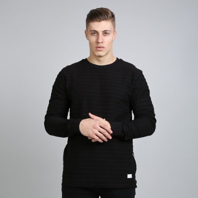 King Apparel Luxe Ribbed Crewsweat black