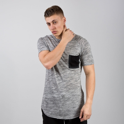 King Apparel Sterling Pocket Tee Shirt Regular Grey