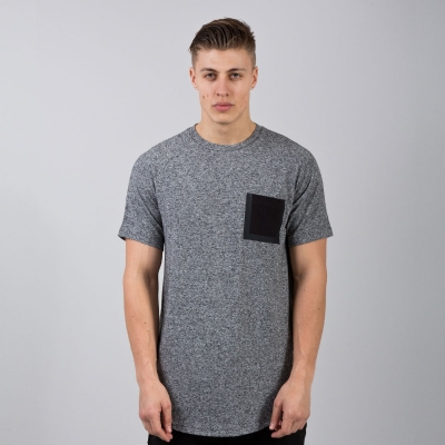 King Apparel Sterling Pocket Tee Regular Charcoal Grey