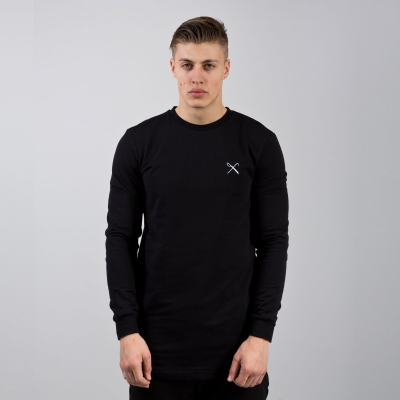 King Apparel Hardgraft Crewsweat Longline Black