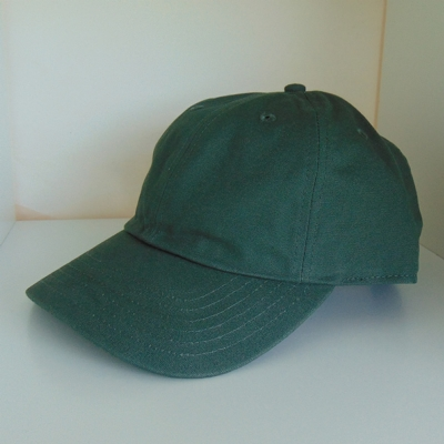 King Apparel Curved Peak Script Cap Olive