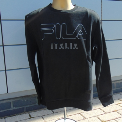 Fila Black Line Lorenzo Fleece Pullover Crewsweat Black