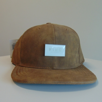King Apparel Silverline Snapback leather tan