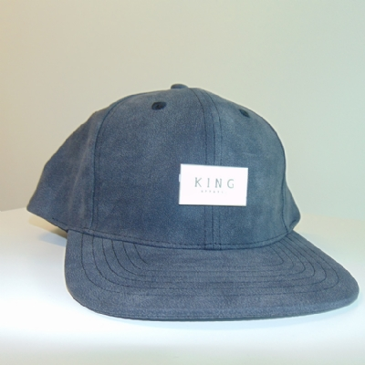 King Apparel Silverline Snapback black leather