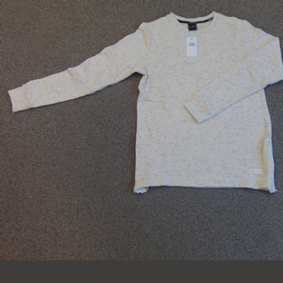 King Apparel Thread Sweatshirt in cream fleck
