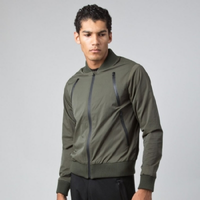 King Apparel Tech Bomber Jacket - Olive
