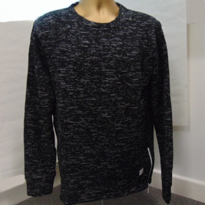 King Apparel Fleck Sweat Shirt in Speckled Black