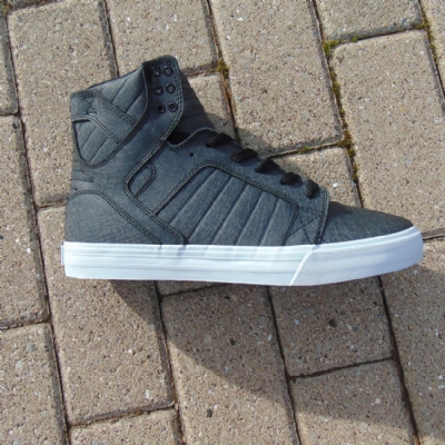 Supra Skytop Black Fibreglass- white Hi-Top mens trainers