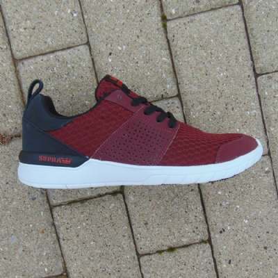 Supra Scissor Burgundy/Black-white mens trainers