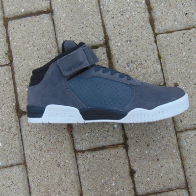 Supra Ellington Strap Dark Grey/Black-white mens trainers