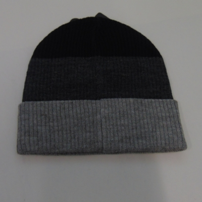 King Apparel Krest White Label Beanie hat in Charcoal Grey