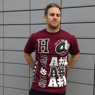 Hall of Fame AN1 Burgundy Tee Shirt