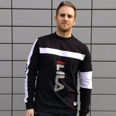 FILA Black Line Orlando Long Sleeved tee shirt black