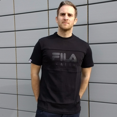 FILA Black Line Manchee Cut and Sew Tee shirt black