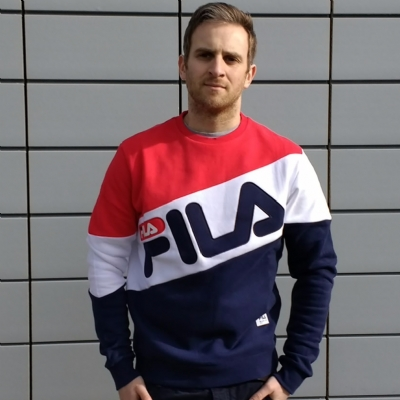 FILA Black Line Alec Pullover Crewsweat Chinese Red