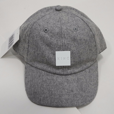 King Apparel Sterling Curved Peak Grey Flannel Hat