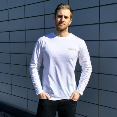 Waven Anton Long Sleeve Tee Shirt White