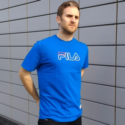 FILA Black Line Budelli Essential Tee Shirt Imperial Blue