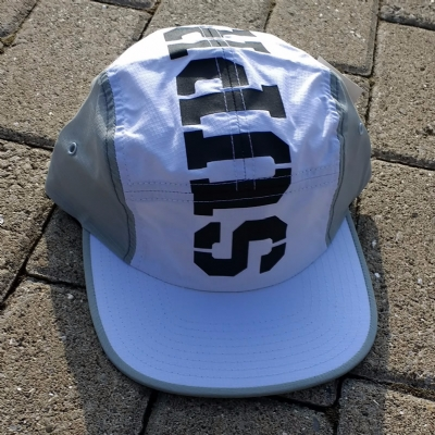 Supra Major 5 Panel Hat Grey and White